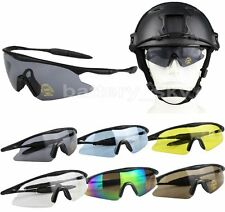 UV400 Rimless Cycling Sunglasses Goggles Tactical Hunting Airsoft Sport Glasses