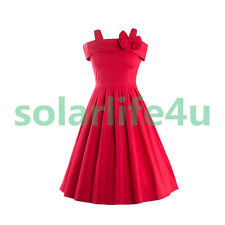 Womens Vintage Dress Sleeveless Spring Outwear  Gown Party Dresses S CA