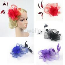 Wedding Bridal Ladies Day Feather Fascinator Hair Clip Headpiece Hair Jewelry