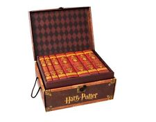 Harry Potter Hardcover Boxed Set in Travelling Trunk, Gryffindor Themed Jackets