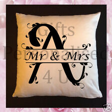 Personalised Wedding Gift Cushions & / OR Mugs - Monogram Letter A