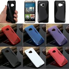 UK S-Line Flexible Soft TPU Silicone Gel Skin Case Cover for HTC Smartphone