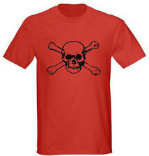 Skull and Bones 2 Pirate Adult Graphic Tee T-shirt Size S - 5XL Red
