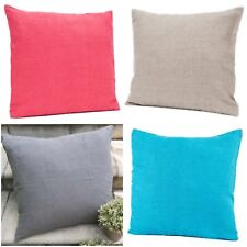 Cushion Cover 100% Linen European Stone Wash Natural/Red/Turquoise/Grey 45cm