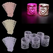 6pcs Vintage Tealight Candle Tea Light Holder Votive Home Wedding party Decor