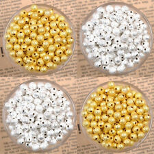 Fashion Silver/Gold Plated Round Spacer Loose Beads Charms Findings 3/4/6/8/10mm