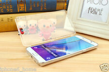 Transparent Crystal Clear Book Case Soft Flip Cover For Samsung Galaxy Note 5