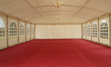 6x18m marquee lining: ivory or blackout roof, curtains/walls, swag linings