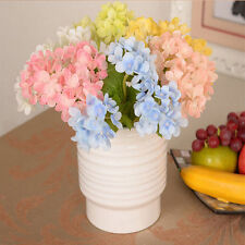 Artificial Hydrangea Silk Flowers Leaf Bouquet Wedding Bridal Party Home Decor a