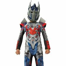 Child Transformers Optimus Prime Costume Boys Robot Warrior Kids Outfit & Mask