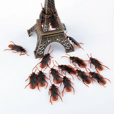 10-100pcs Fake Plastic Cockroaches Rubber Toy Joke Halloween Novelty Party Props