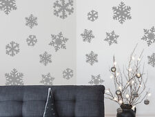 18 Snowflakes Christmas Vinyl Wall Art Sticker Decal Removable - Various Colours