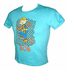 NEW Official Bob The Builder Boys Ladder Graphic Blue Short Sleeve T-Shirt 5-8y