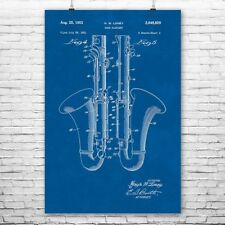 Bass Clarinet Poster Patent Print Gift Bass Clarinet Patent Bass Clarinet Player