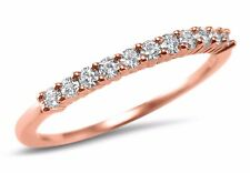 14K Rose Gold Charles and Colvard Moissanite wedding ring stackable 1/4CTW