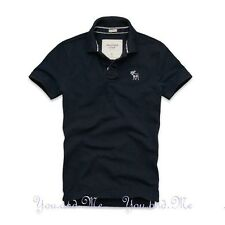 NEW ABERCROMBIE & FITCH MEN A&F Flagstaff Mountain Cotton Polo Shirt Navy S-XXL