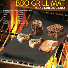 2Pcs Reuseable BBQ Liner Non-Stick Barbecue Cooking Grill Baking Mat Sheet New