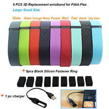 9 Replacement 3D Pattern WristBand 1 Charger For Fitbit Flex Bracelet No Tracker