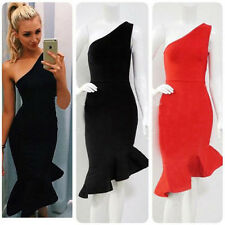 Women's Ladies Bodycon Dress One Shoulder Party Dress Mermaid Cocktail Evening