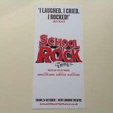 1 Flyer SCHOOL OF ROCK The Musical NEW New London Theatre