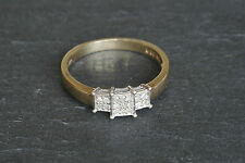 Vintage Art Deco Style 9ct Yellow Gold Diamond Cluster Ring