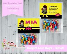 PERSONALISED BIRTHDAY LOLLY/LOOT BAG & TOPPER - BATGIRL