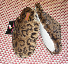 NWT~Miss Fiori~ladies soft,cosy animal print mule style slippers sizes 4 & 5