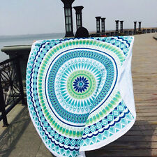 Holiday Travel Gym Camping Bath Pool Cover Ups Print Shawf Round Blanket Towels