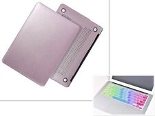 "HOT Silk Leather Case + Keyboard Cover for Macbook Pro Air Ratina 11""12""13""15"""