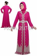 EXCLUSIVE CAFTAN GEORGETTE ARABIAN JILBAB JALABIYA FANCY WEDDING GOWN DRESS 5171