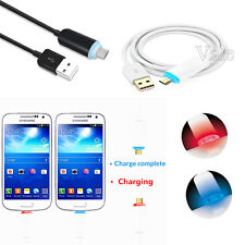 Visible LED Bling Micro USB V8 Charging Charger Data&Sync Cable For Mobile Phone