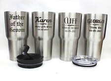 Set of 10,Personalized Stainless Steel RTIC Tumblers,Wedding Gift,