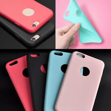 "Soft Silicone Rubber Gel Bumper TPU Back Case Cover For iPhone 6 4.7"" Plus 5.5"""