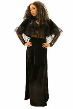 Ladies Steampunk Gothic Victorian Long Black Cocktail Party Evening Skirt 8-24