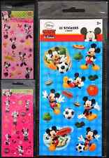 MICKEY MOUSE MINNIE MOUSE STICKERS - DISNEY KIDS ART CRAFT DIY  SPORTS FLOWERS