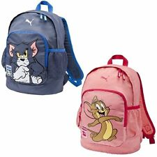 Puma Tom and Jerry Kids Backpack School Bags Navy Pink Unisex
