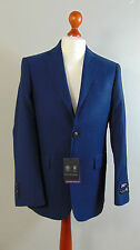 AUSTIN REED Mens Blue Birdseye Pattern Suit Blazer Jacket NEW