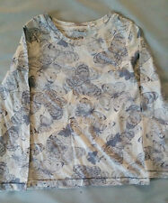 Next Girls Cream Grey Butterfly long sleeved top Ages 3 4 8 9 11 12 BRAND NEW