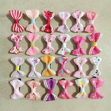 50pcs=25pair Dog handmade Hairpins Pet Bow Tie Hair Clips Puppy cat Bowknot