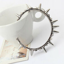 Metal Rivet Spike Wristband Cuff Stretchy Bangle Bracelet Men Women Jewelry Punk