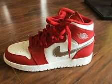 Air Jordan 1 Retro High Gym Red/Metallic Silver/white 705300-602