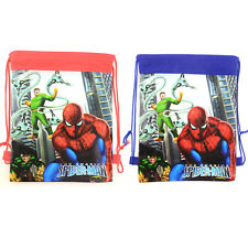 Cute Spiderman Boys Drawstring Backpack PE Kids Swimming Shoes Party Pouch Bag