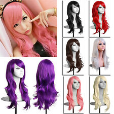 Womens Lady Long Hair Wig Curly Wavy Anime Synthetic Cosplay Party Full Wigs
