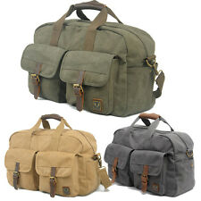 Large Canvas Handbag Shouder Bag Outdoor Travel Overnight Luggage Daypack Duffle