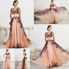2016 Long Chiffon Evening Dress Formal Party Cocktail Bridesmaid Prom Gown Dress