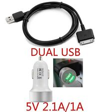 """CAR+Wall Charger+USB Cable for Barnes & Noble Nook HD 9"""" Tablet 16 32 GB 2.1A 1A"""
