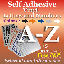 15mm  Vinyl  A-Z Letters and Numbers* Self Adhesive * Peel & Stick*Crafts*