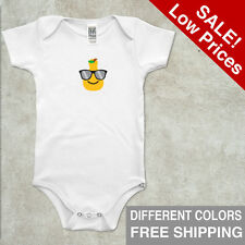 Infant Bodysuit Organic Shirt Short Sleeve Pear Size 3-6 6-12 18-24 Cotton