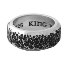 King Baby Studio American Craft Sterling Silver Pitted Texture Band K20-5914