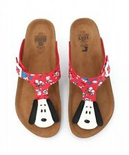 PEANUTS SNOOPY Face Sandal Sandals Thongs Flip Flops Shoes from Japan K1293